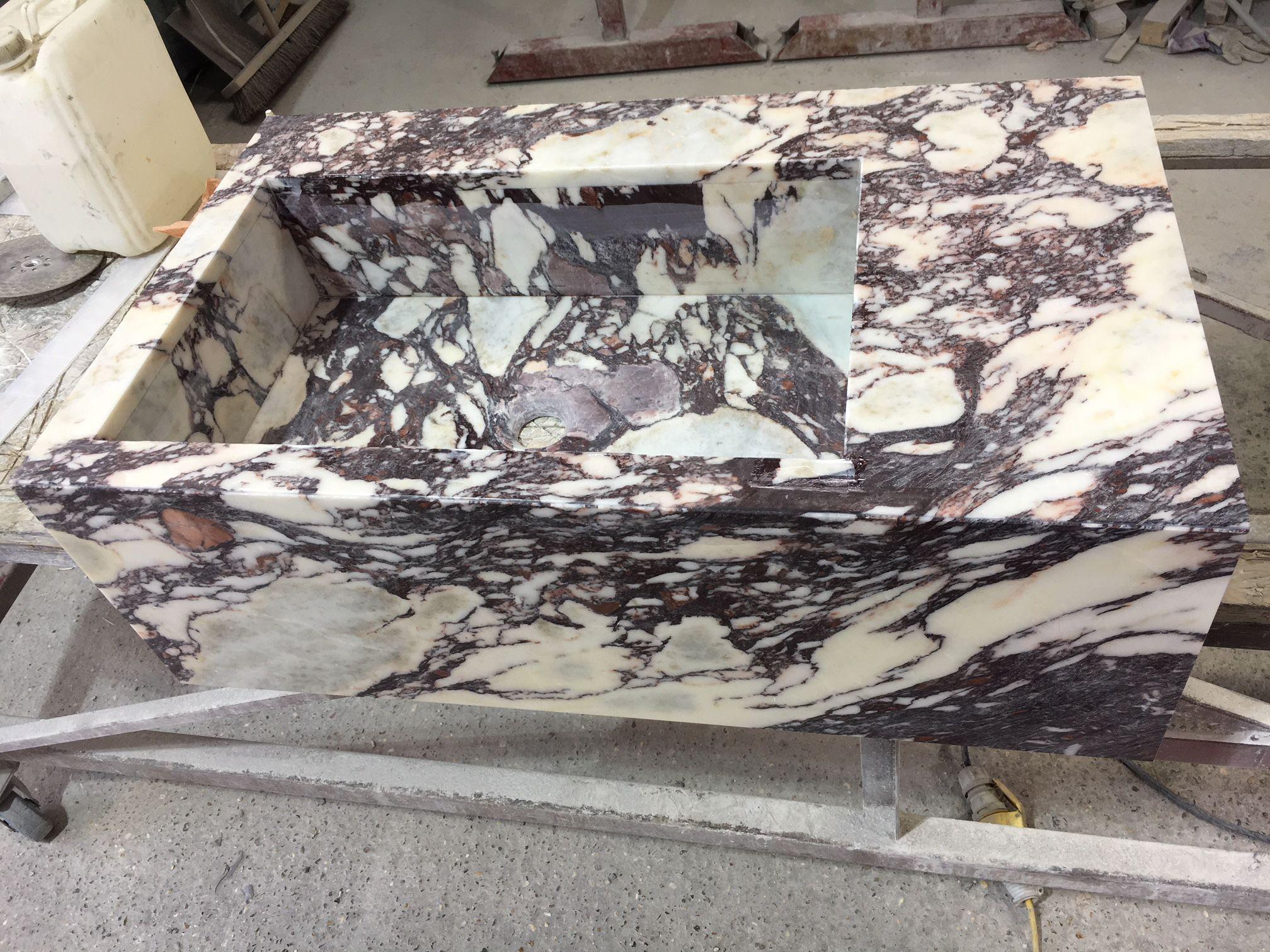 Making A Basin In Calacatta Viola Polished Marble Www Stoneofdestinydesign Co Uk Stone Of Destiny Unit 1 Lines Farm Estate Pa Stone Stone Sink Calacatta