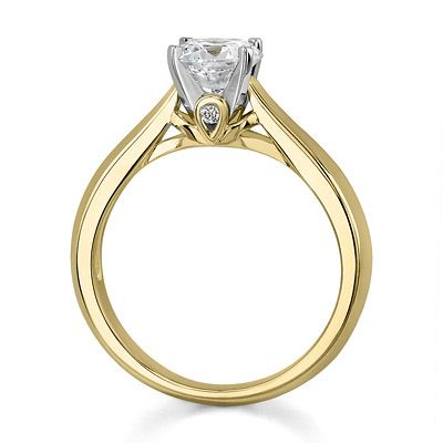 The Bridal Trendz - 14K Yellow Gold, Solitaire Diamond Engagement Ring.