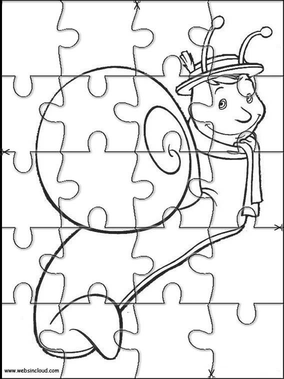 Puzzles rompecabezas recortables para imprimir The Magic Roundabout 12