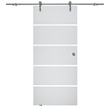 OBI Glasschiebetür Viga offenes System Satiniert Streifen 90 cm x - küchen arbeitsplatten obi