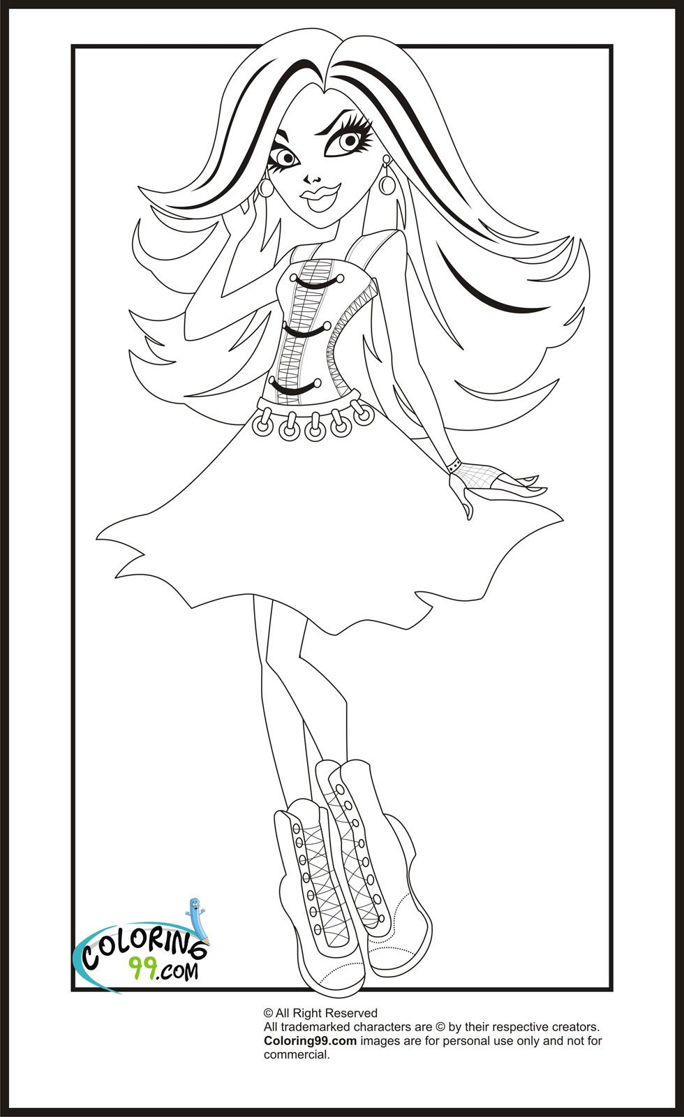 Monster High Print Out Coloring Pages | Just for Kayle | Pinterest ...