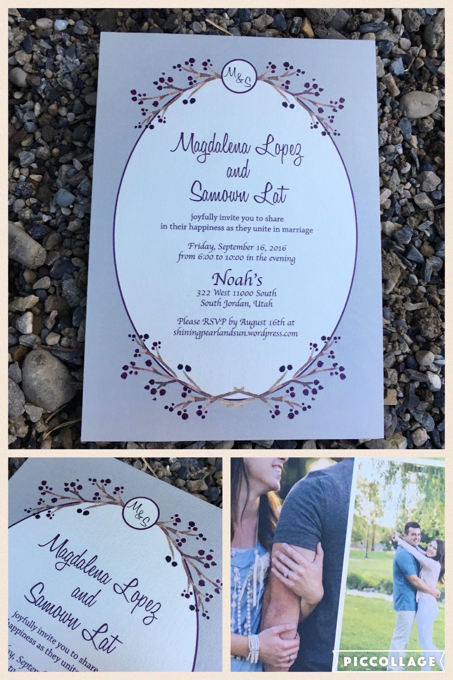 Oval Framed Elegant Wedding Invitation By Beautiful Announcements
