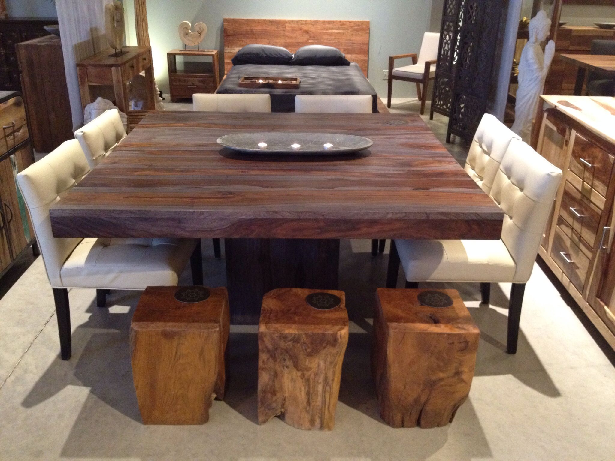 Rosewood Dining Table Table Salle A Manger Cuisine Blanche Et