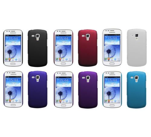 Hard Rubberized Matte Snap-On Slim Cover Case for Samsung Galaxy ACE 2 X S7560M