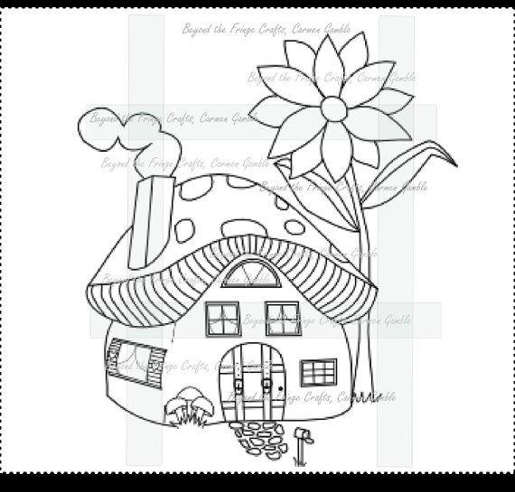 Mushroomville Digital Stamps by carmensplace on Etsy