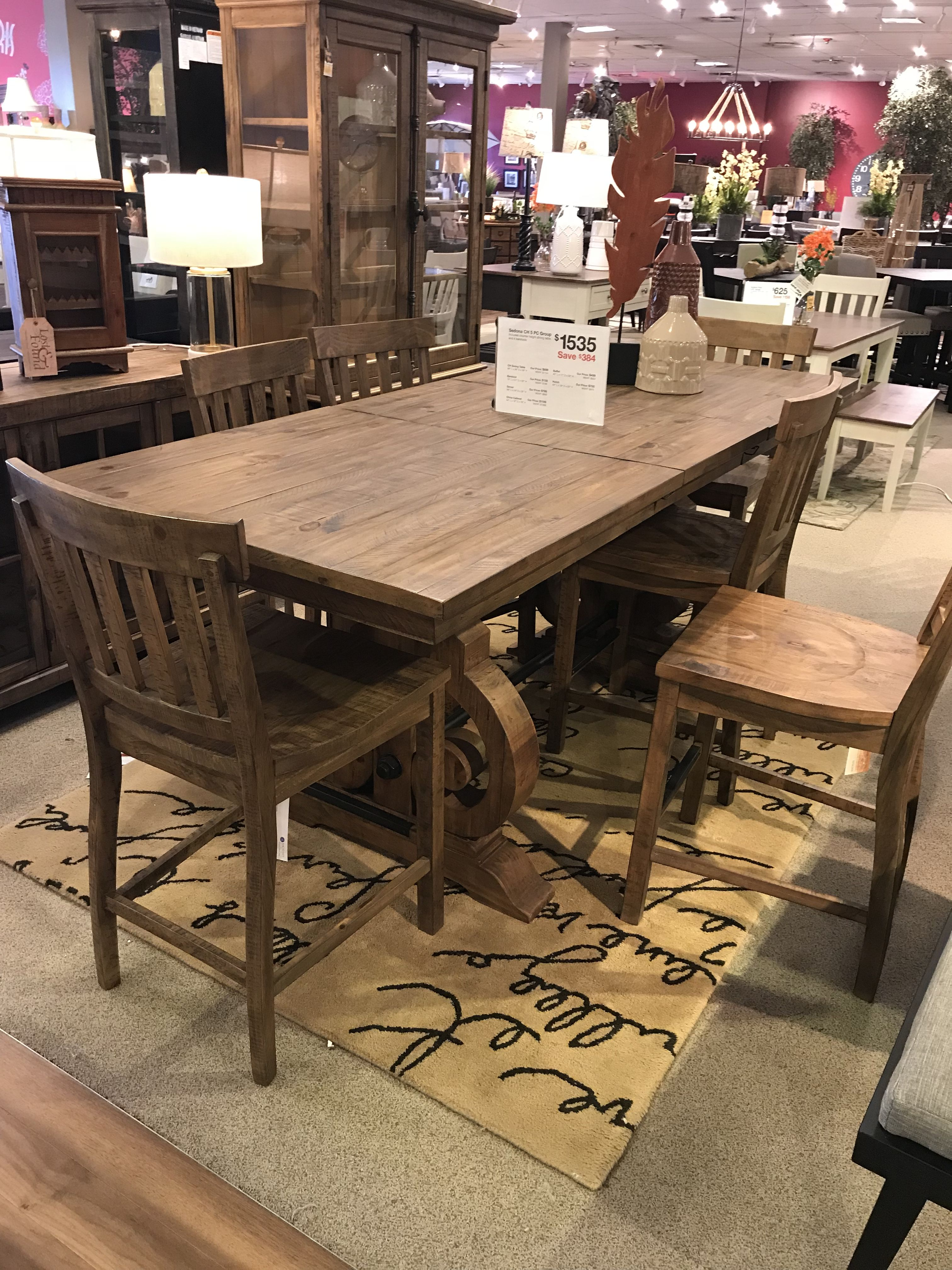 Furniture Row Sedona Counter Height Dining Table And Chairs Rowe Furniture Dining Table Dining Table Chairs