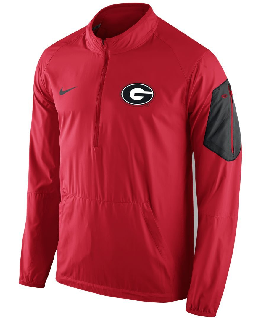 Best Nike Men S Georgia Bulldogs Lockdown Half Zip Jacket 400 x 300