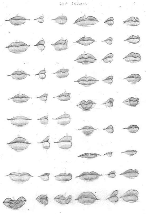 Some lip drawings to make characters vary in personality and looks