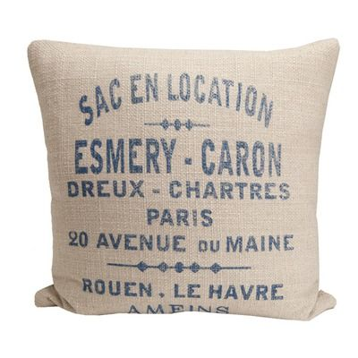 French Laundry Home Hampton Classic French Words Pillow