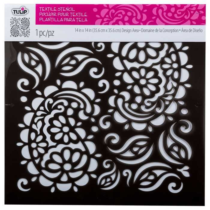 Tulip Paisley Large Textile Stencil | Hobby Lobby | 991349