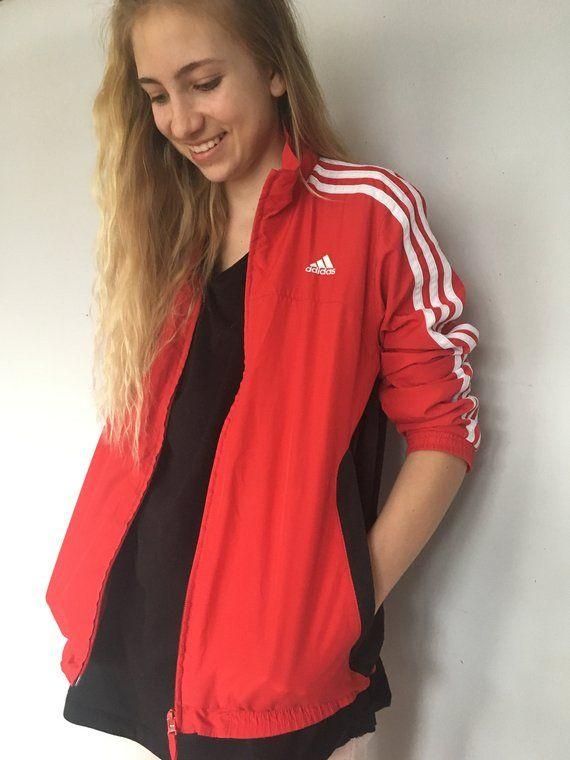 9f54ea02c3548 Vintage Adidas Sport Jacket Red Adidas Hipster jacket Vintage Adidas ...
