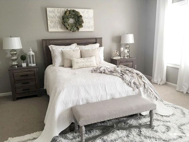 21 Modern Farmhouse Master Bedroom Ideas Farmhouse Style Master Bedroom Small Master Bedroom Master Bedroom Colors