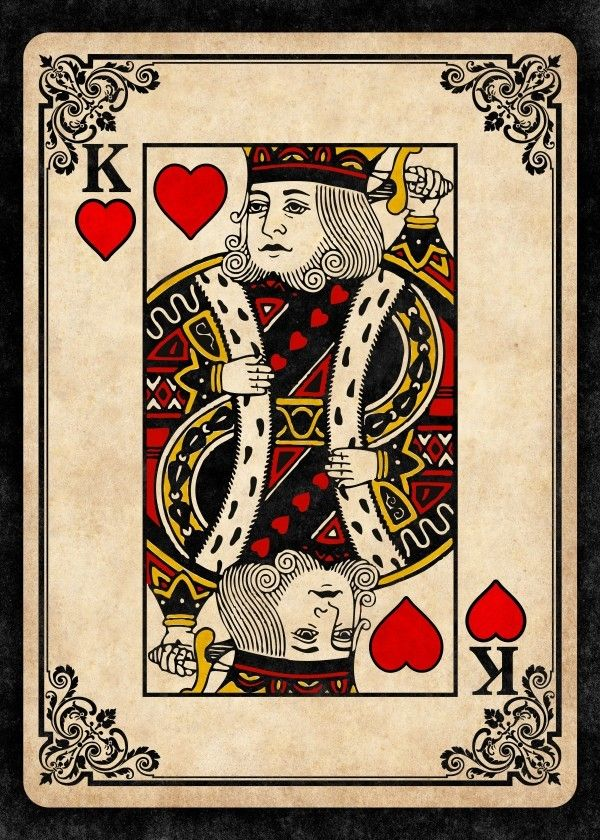 King Of Hearts Poster By Remus Brailoiu Displate Hearts Playing Cards King Of Hearts Card Playing Cards Art