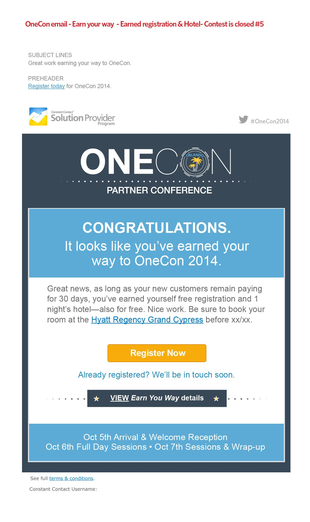 Email Promotion To Conference  Campaign For The Constant Contact