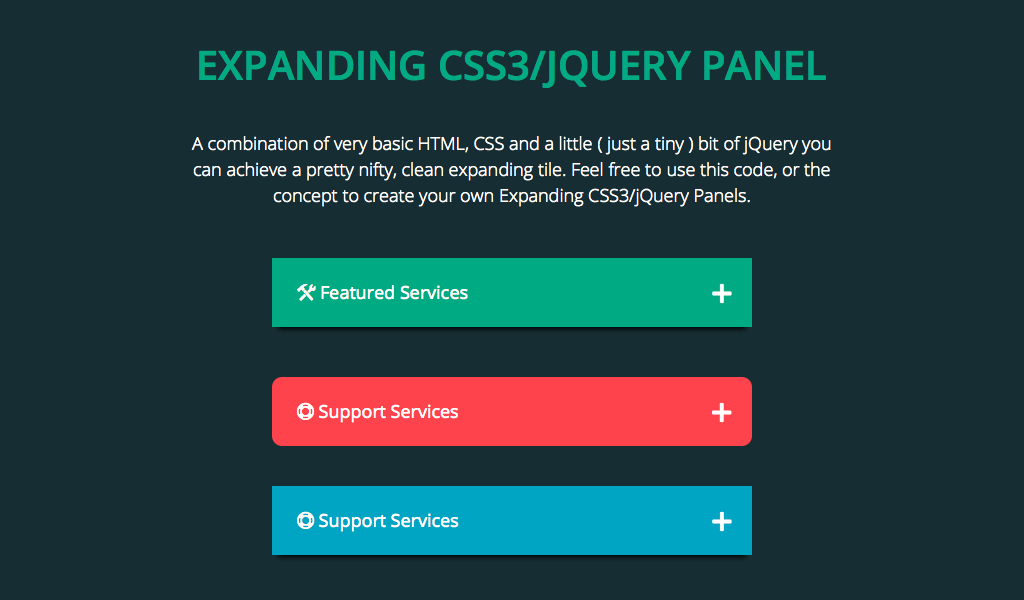 HTML, CSS and a little ( just a tiny ) bit of jQuery to