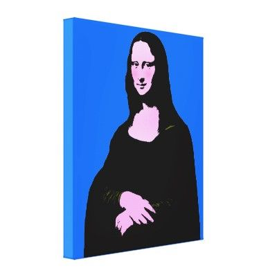 SOLD!!! - Mona Lisa Pop Art Style Canvas Prints by #SpoofingTheArts Shipping to Calgary, Canada
