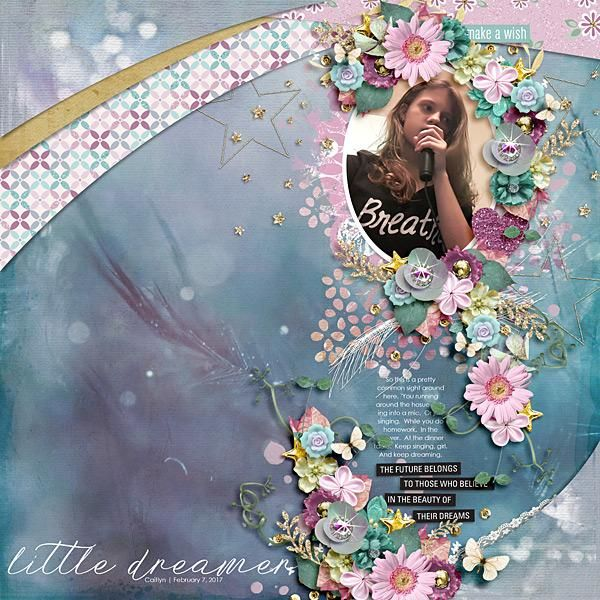 Dreams and Fairytales Collection by Heartstrings Scrap Art. Layout by breakingbrie. #digitalscrapbooking #layout #inspiration