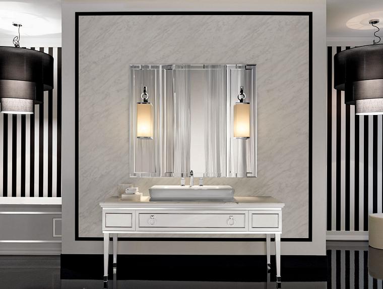 Retrostyle bathroom chandeliers Arredamento casa di