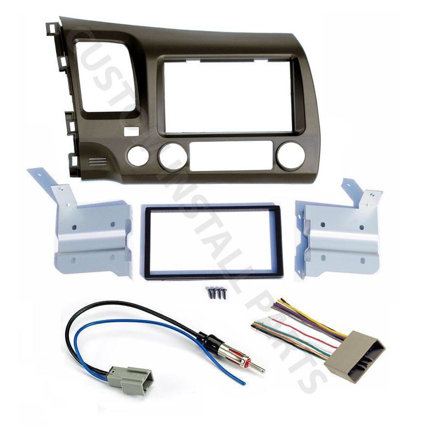 Cool Awesome 06 11 Honda Civic Taupe Radio Stereo Double 2 Din Dash Dual Wiring Harness Kit W 2017 2018