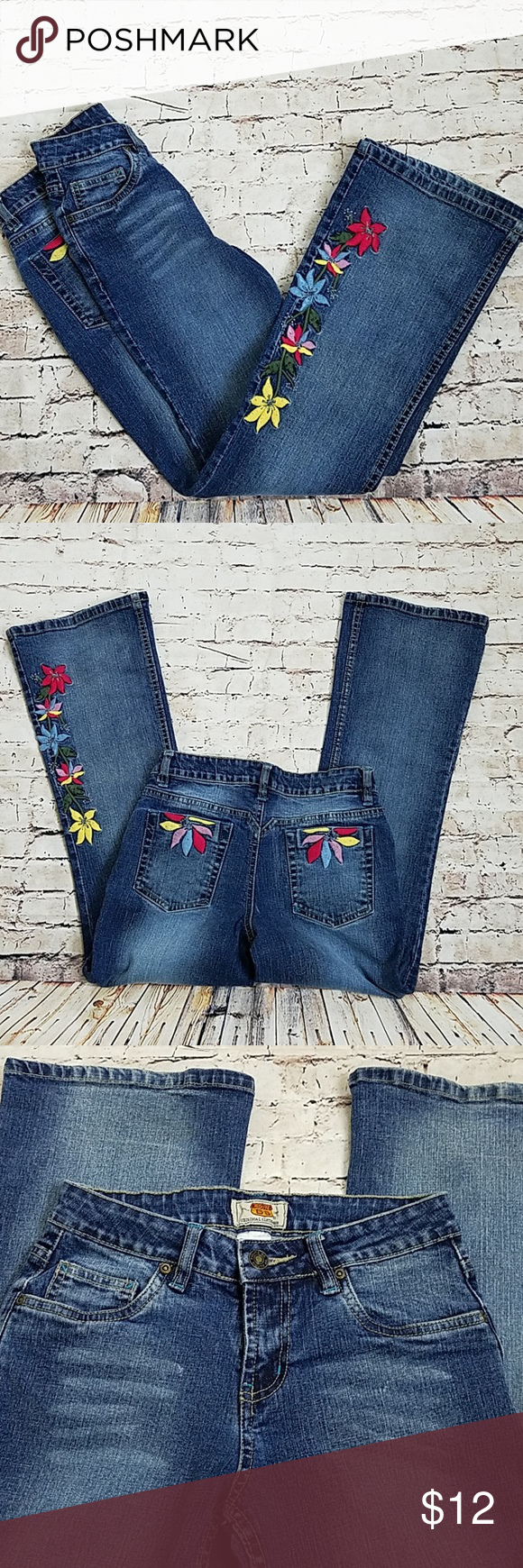 070f6a6a5b Route 66 Girl's embroidered flare jeans size 12 Very cute girls flare jeans  with mild distressing