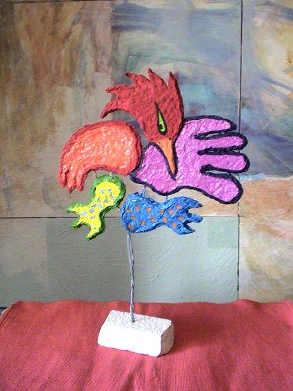 Trabalho realizado por alunos, inspirados na obra de José de Guimarães.