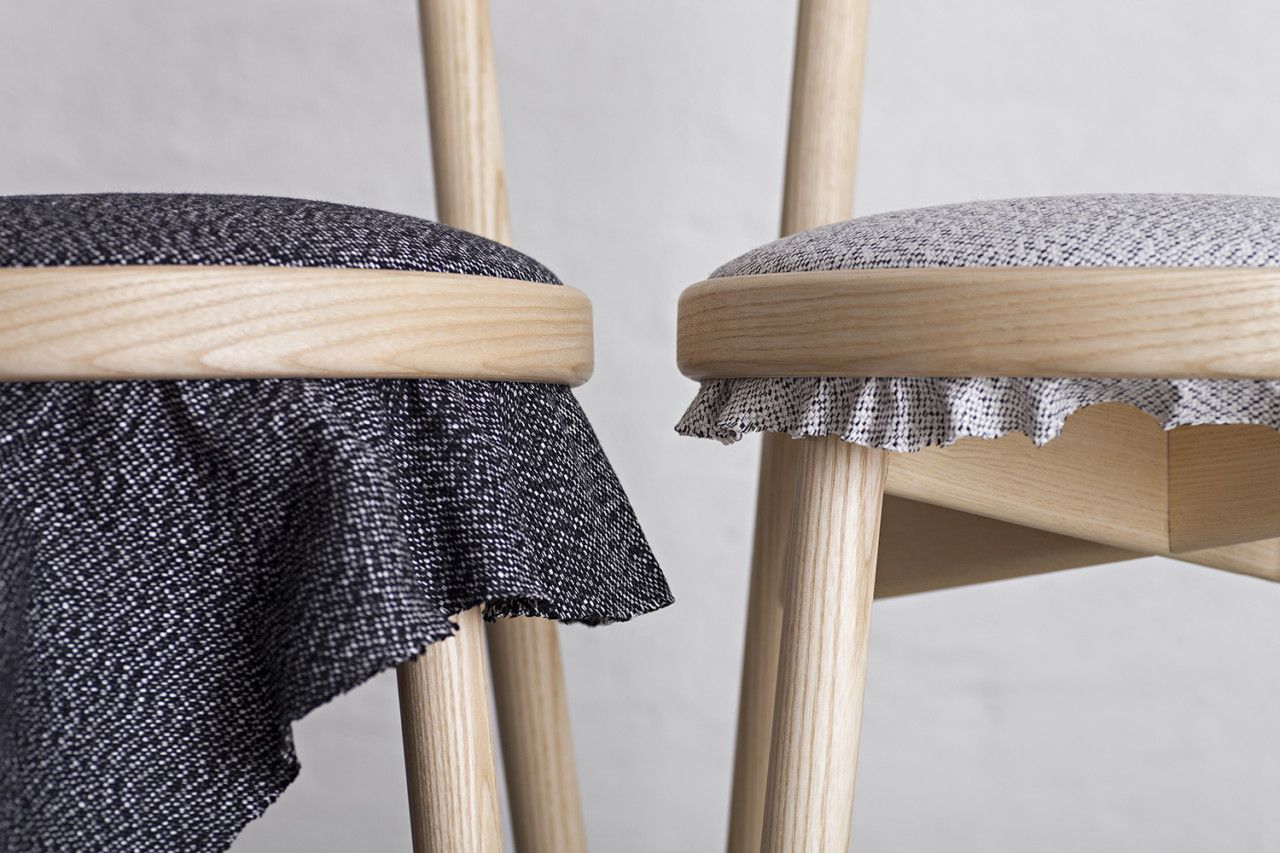 Furniture as art the canvas chair and the blank table by stoft