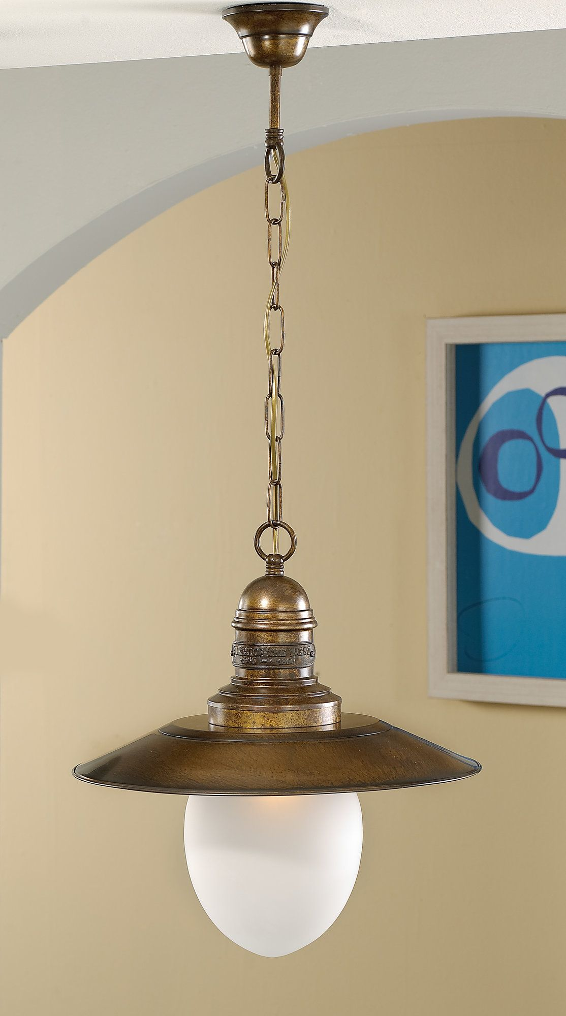 Nautic Ancora 1 Light Pendant Br Chandelier Lamp