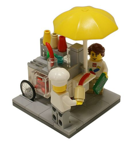 Lego Hotdog Stand - I think I see a gift for Josh from Aunt Carole