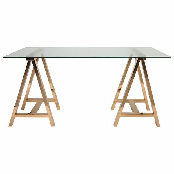 Sonnet Desk In 2020 Glass Top Desk Home Furnishings Safavieh