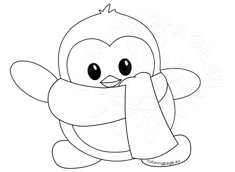 Cute Penguin Coloring Pages Penguin Coloring Pages Baby