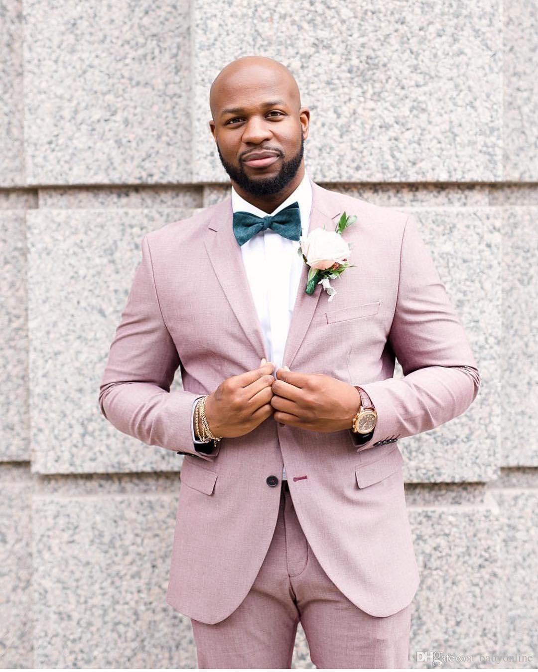 Custom Made Groom Tuxedos Notch Lapel Best Man Suit Groomsman Men Wedding Suits