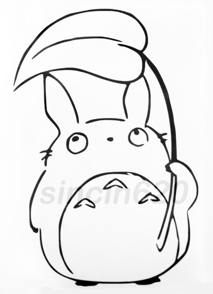 Details about My Neighbor Totoro Chu Totoro Holding Leaf