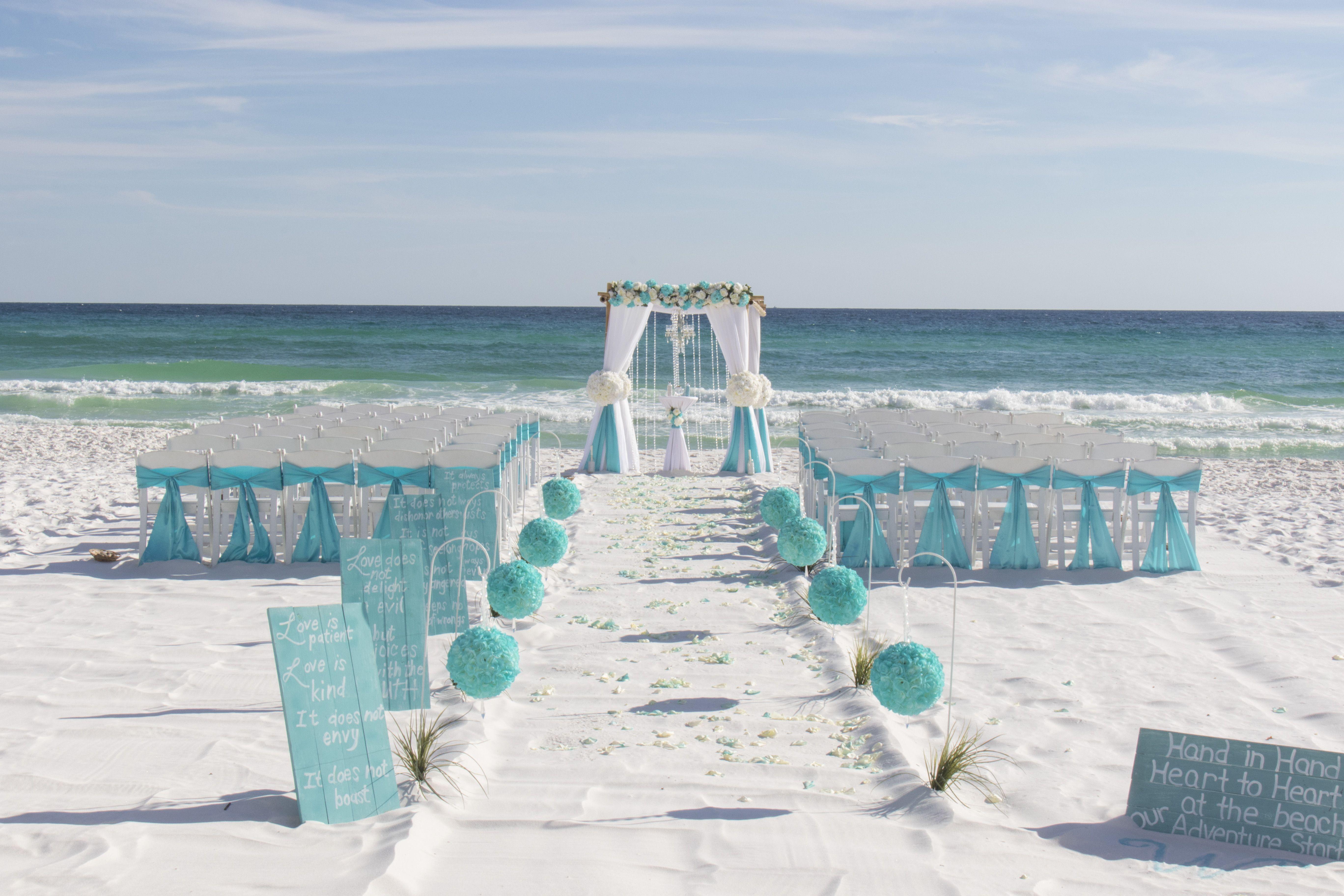 Destin Florida Beach Wedding Package In 2020 With Images Beach Wedding Packages Beach Wedding Arch Wedding Venues Beach