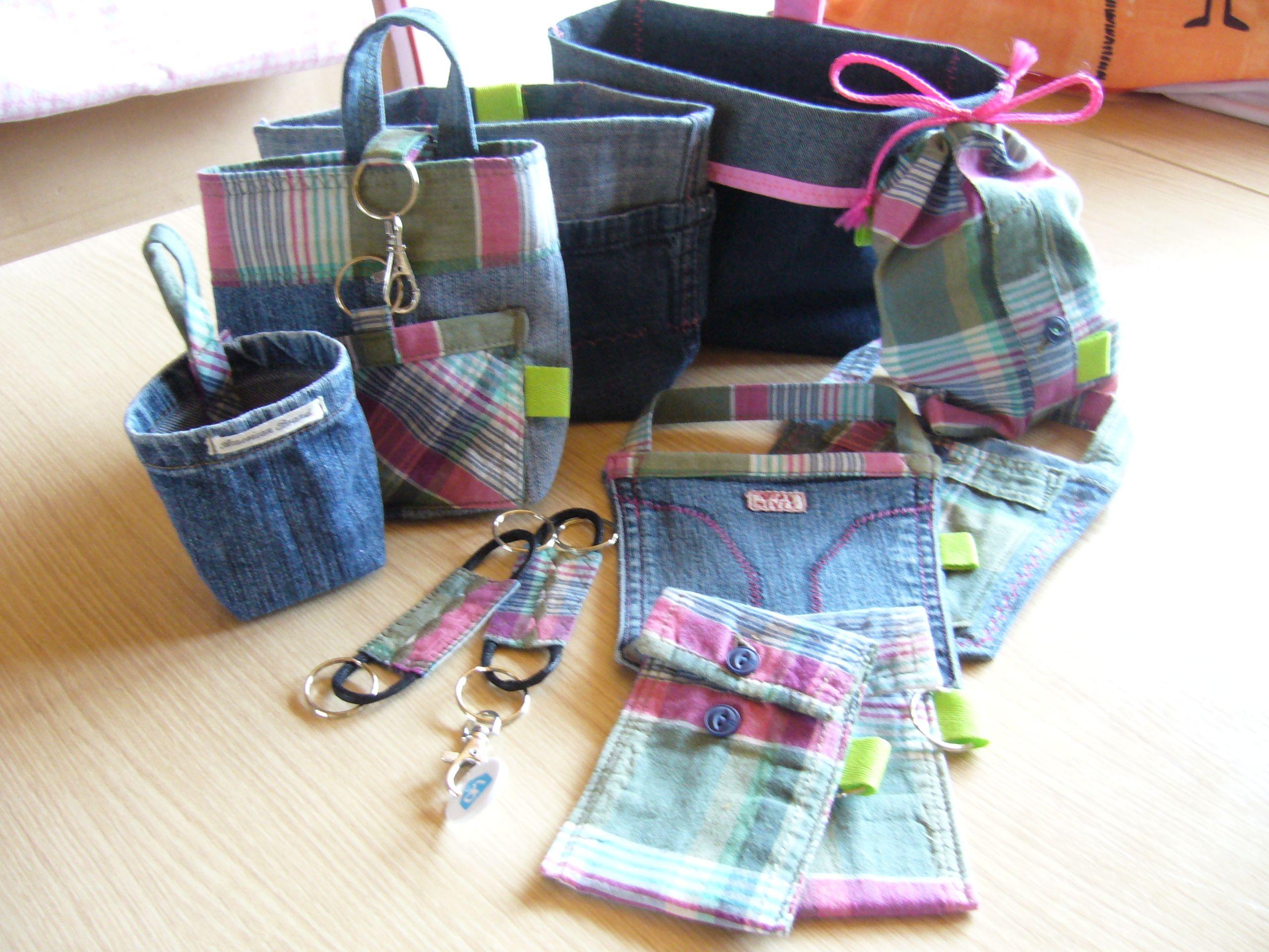 recycle : oude jeans en hemd