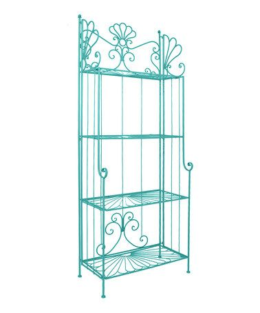 Take A Look At This Blue Tall Bakers Rack By Color Trend Bold