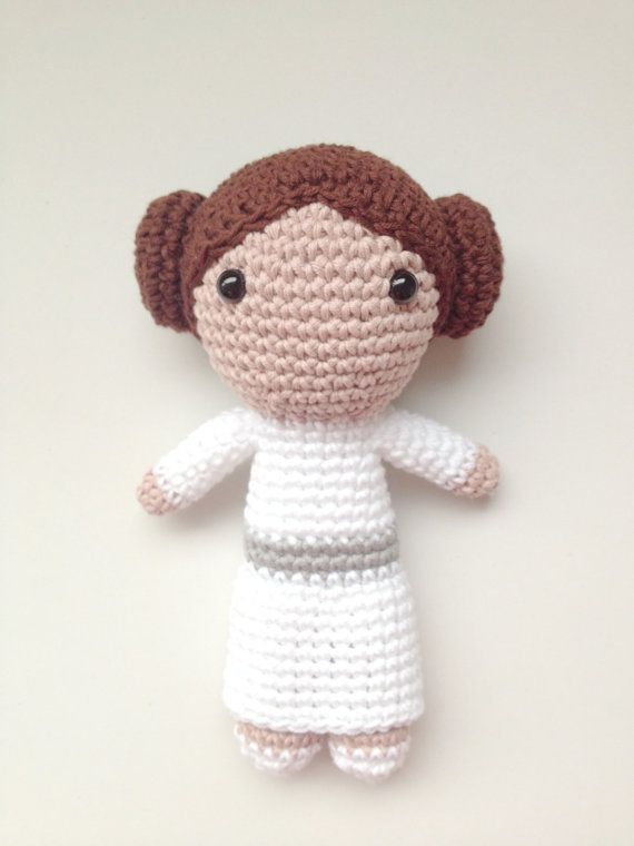 Leia Amigurumi Princess Leia plushie Star Wars by CrisCrossCrafts ...