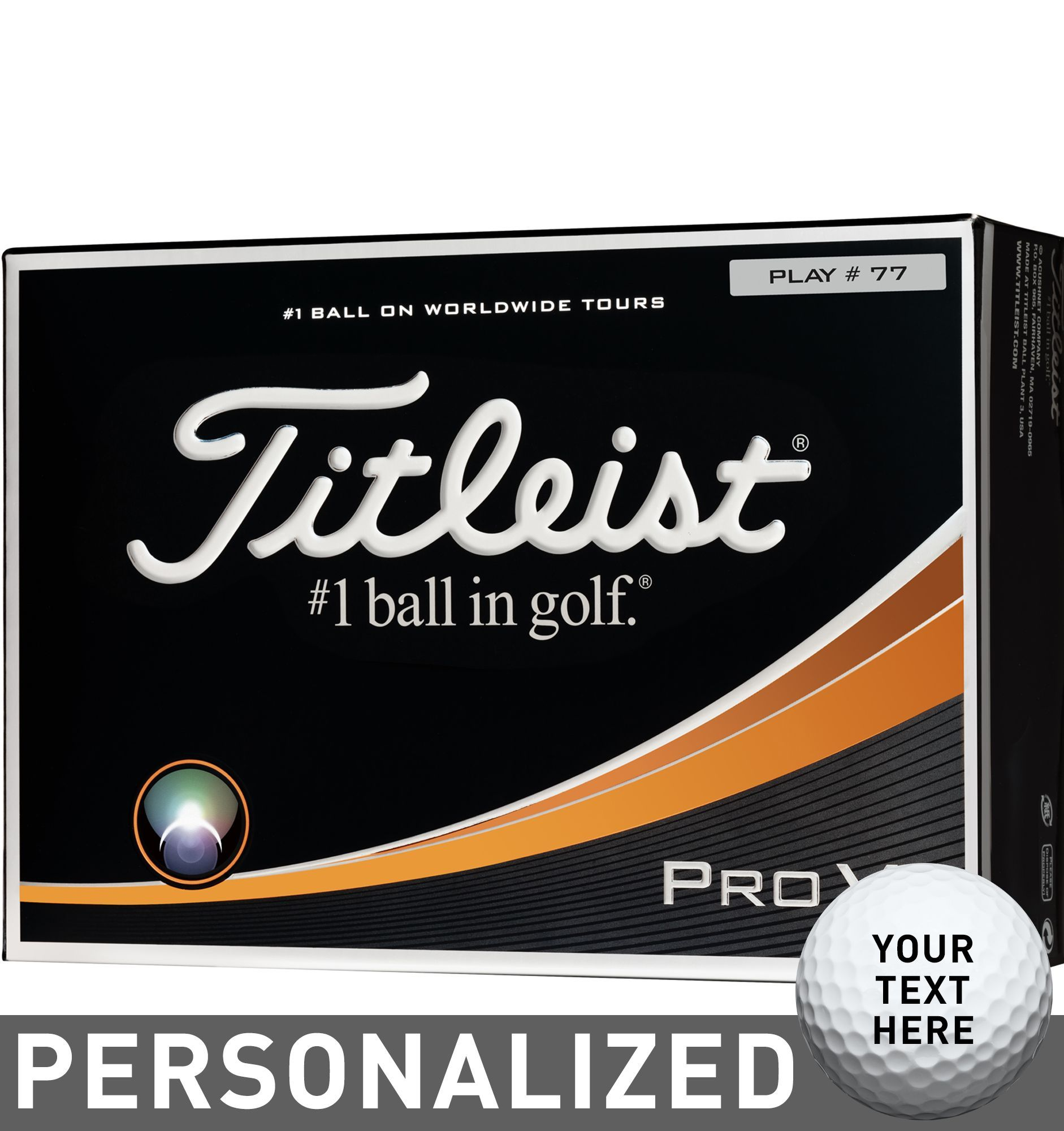 Titleist Pro V1 Double Number Personalized Golf Balls