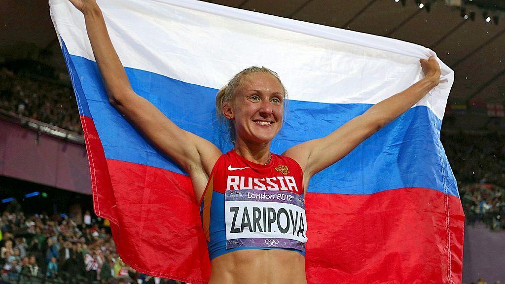 Julija Zaripova   Julia Zaripova Copyright: Getty Images. Kuva: Alexander Hassenstein. OS guld 3.000 meter hinder 2012 London.