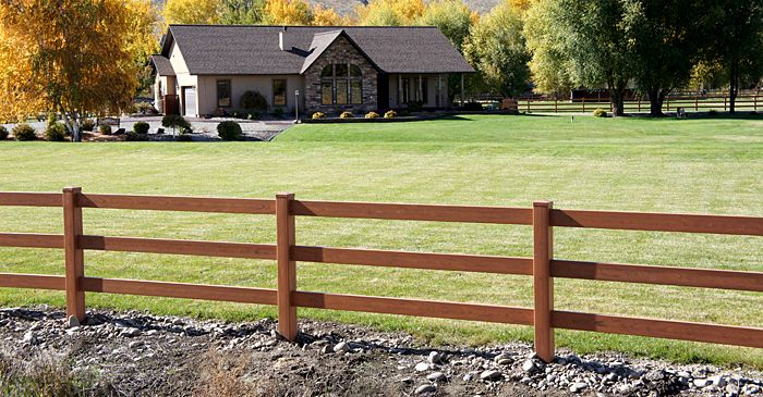 Vinyl Fencing For Horses ranch and farm fence gallery   red cedar wood grain horse fence