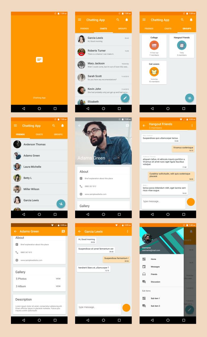 android material ui template 4 0 收集版型參考 pinterest app