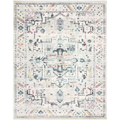 Safavieh Madison Zakho 10 X 14 Light Gray Fuchsia Indoor Distressed Overdyed Vintage Area Rug Lowes Com Rug Deals Cool Rugs Oriental Rug