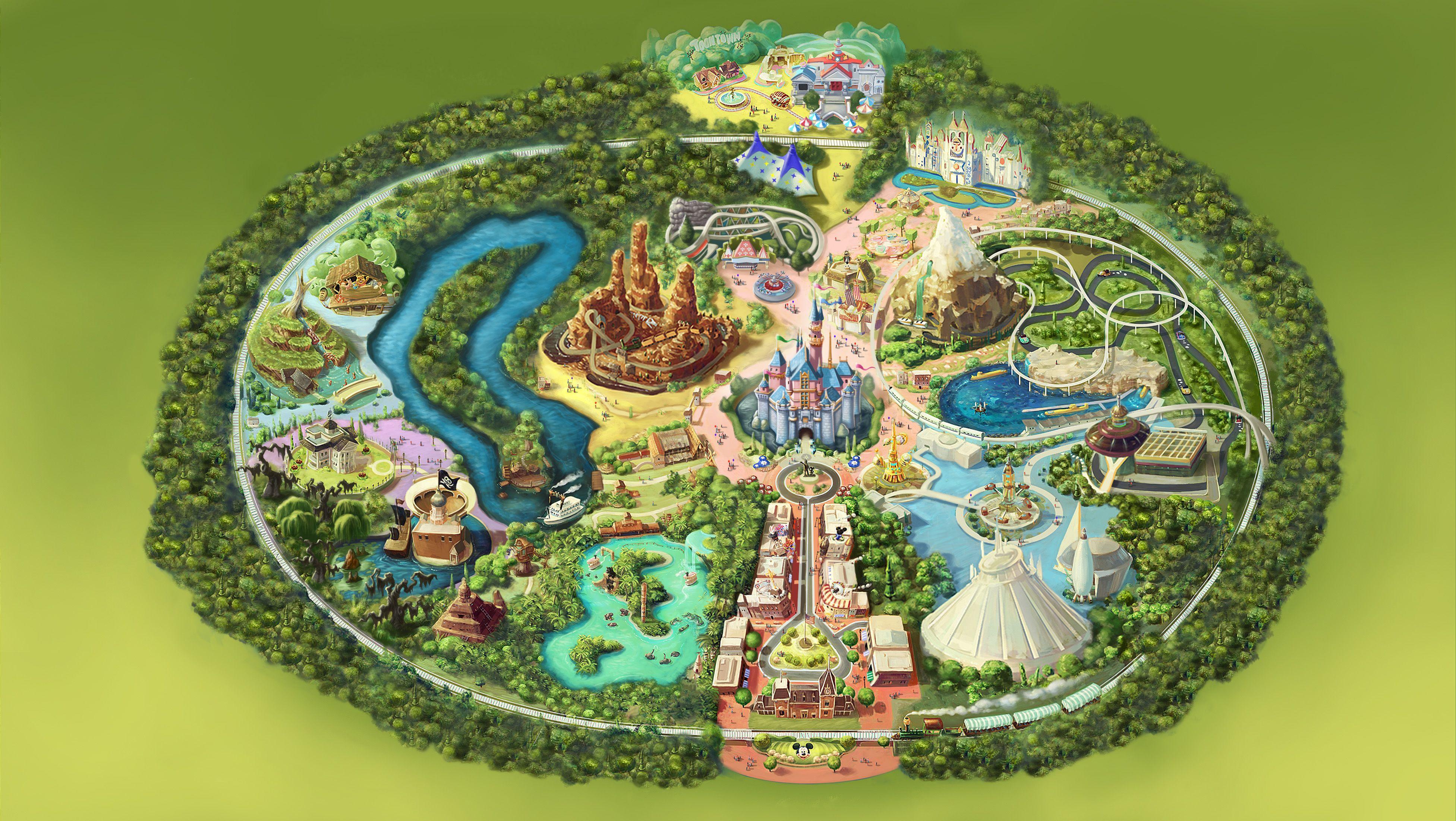 Kinect Disneyland Adventures park map Kinect Disneyland