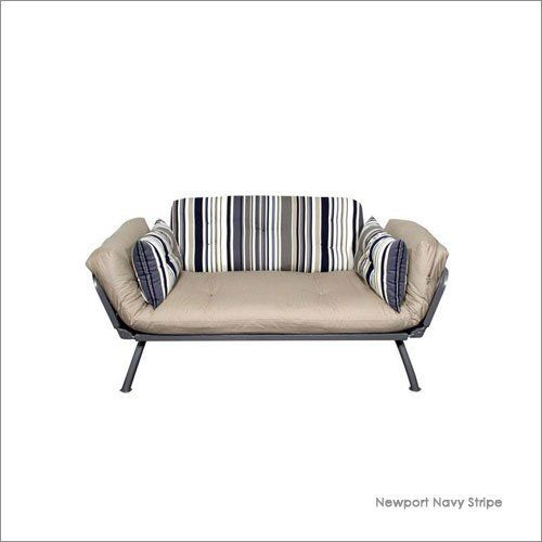 Twin American Furniture Alliance Mali Flex Stripe Futon Combo With Pewter Frame By 249 00