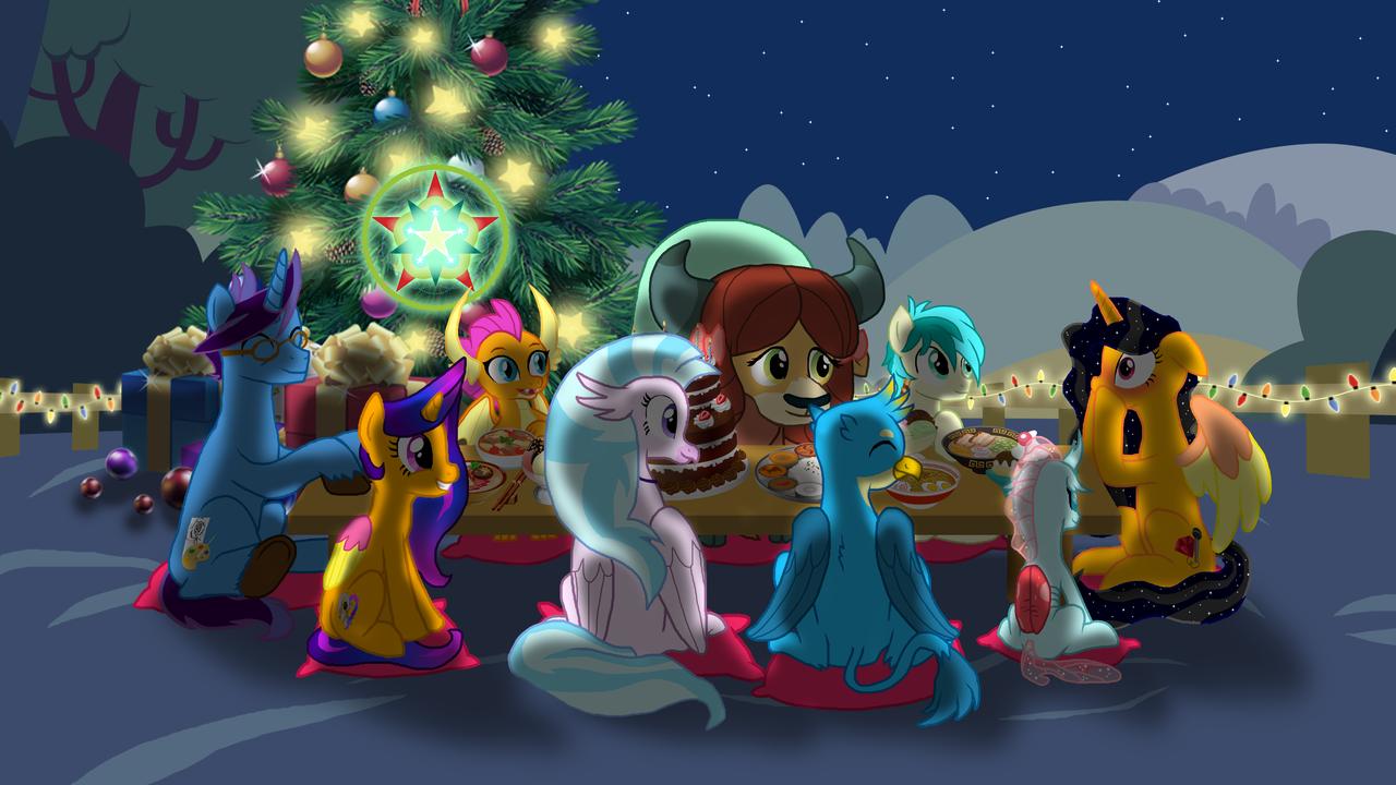 Christmas Lights In Oc 2020 1835176   alicorn, alicorn oc, artist:crisostomo ibarra, blushing