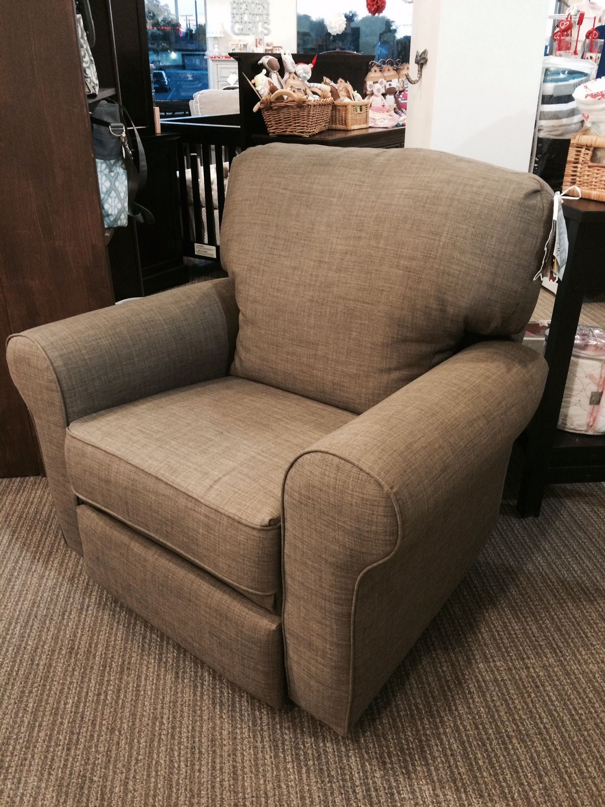 Superb Best Chairs   Irvington Space Saver In Stone Stock#247230