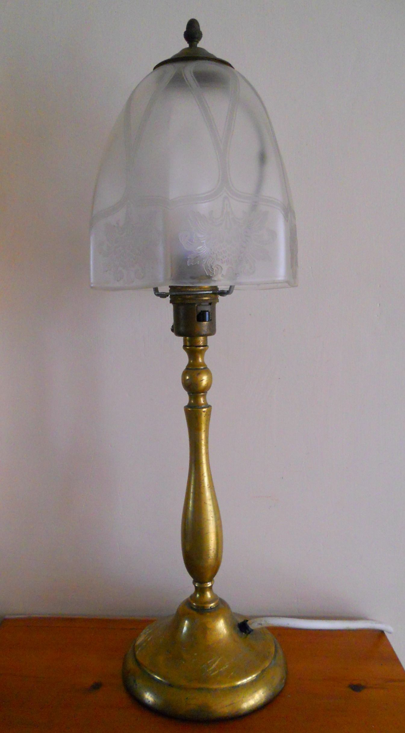 Vintage brass table lamp with frosted etched glass shade sold on vintage brass table lamp with frosted etched glass shade sold on my ebay site lubbydot1 geotapseo Image collections