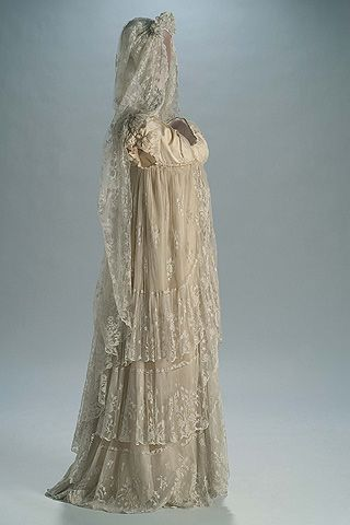 Early 1800s Spanish Wedding Gown And Mantilla Wow Maybe