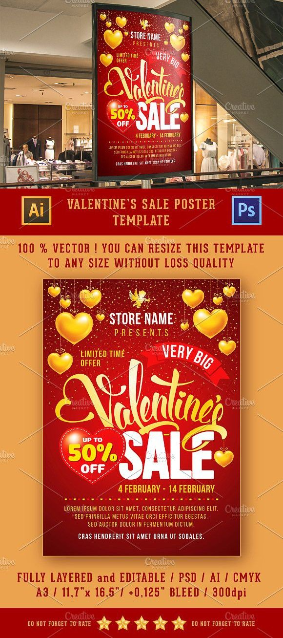 Valentines Sale Poster Template Flyer Templates Flyer Templates - For Sale Ad Template