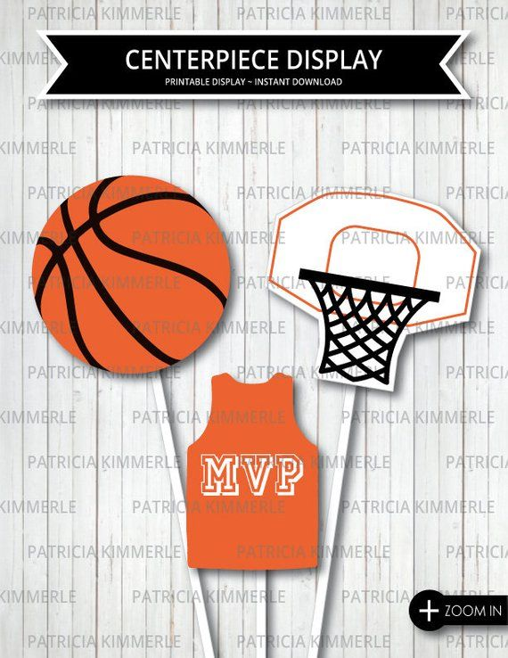 Creative Converting Sports Fanatic Basketball Centerpiece with Mini Cascade and Base 2-Pack Orange