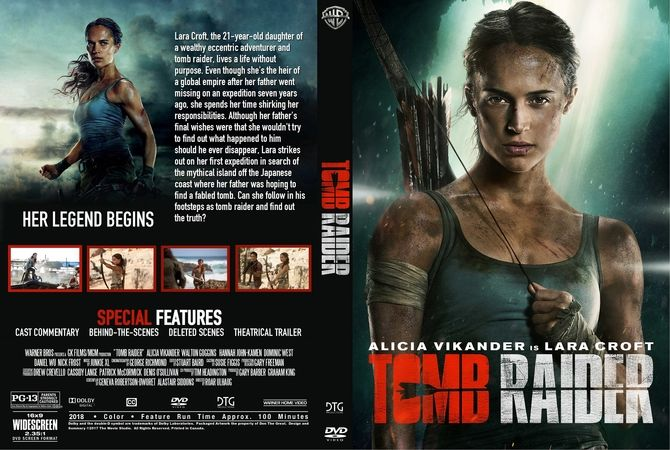 Tomb Raider (2018) DVD Custom Cover | A tribute to Lara Croft | Tomb